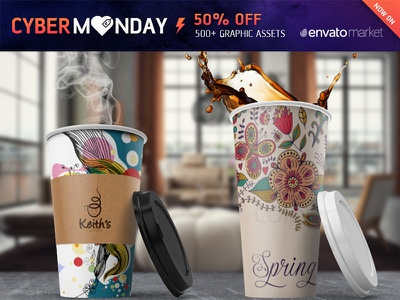 Coffee Cup Mockup *Cyber Monday* coffee shop logo branding brand cover design latte preview showcase mockup cup coffee