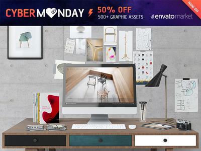 Mock-up Creator / Hero Desktop *Cyber Monday*