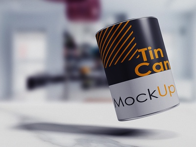 Tin Can Mockup (Free Sample) metal kitchen household health freshness food cover case candy packaging can tube