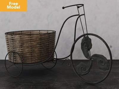 Old Antique Bicycles 3dmax 3ds vray model 3d bicycle antique old