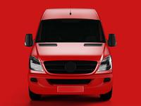 Van Mockup transport shipping print delivery cargo brand branding mock-up car mockup van