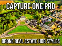 Capture One Pro Drone Real Estate HDR Styles residential area building villa resort property luxury agency travel hotel dji drone home exterior real estate retouch high dynamic range hdr style phase one capture one