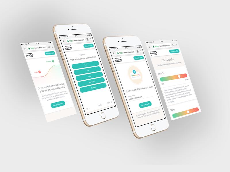 Mobile Screening mobile design web ui ux material healthcare