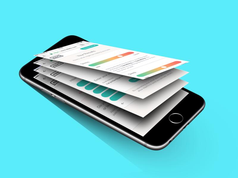 Initial Screening app mobile ui ux material design healthcare