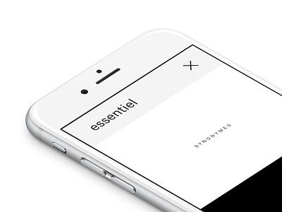 Anto Syno Nymes black  white white black antonyme synonyme antonym synonym minimal ios app