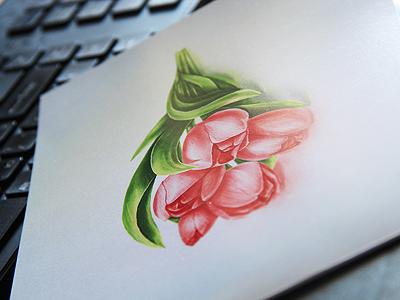 Tulip tulip flower postcard