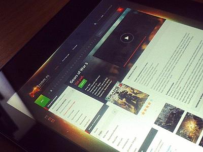 3zoom game shop site web design ui