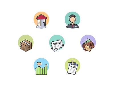 Flat icon set mobile app ios icons flat