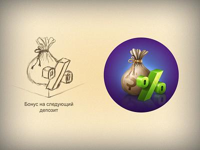 Bonus Icon money app ico icon bonus