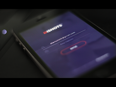 DiSHOTS login screen login flat android app userinterface ios mobile ux ui