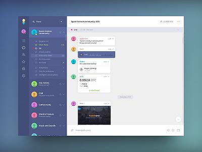 Messenger Design Ui v2 userinterface uiux flat web app ux ui mobile