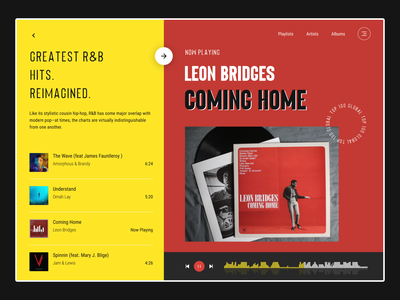 Web Music Player | Retro 🎵 inspiration apple music desktop rb artist song web web music yellow red retro musicplayer music minimal design clean ui app visual design ux ui