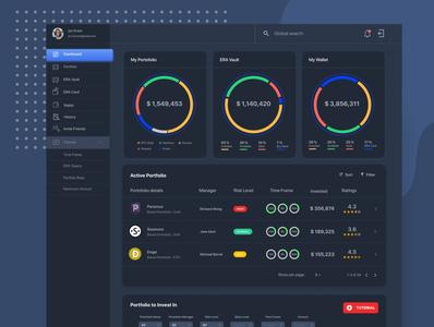 CapiteraDark app dashboard app dashboard ui dashboad dark uidesign cryptocurrency