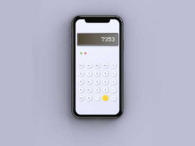 DailyUI #4 app calculator dailyui 004 dailyui