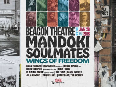 Mandoki Soulmates concert in NYC campaign advertisement poster concert