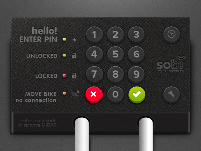 SoBi - Pin Locker pin code pincode locker lock bike keypad numpad