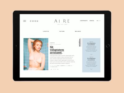 Online Magazine / Aire Mag