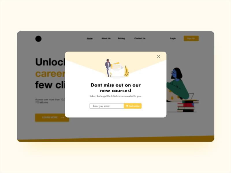 Daily UI 16  Overlay pop up ui overlay webdesign ui ux dailyuichallenge dailyui