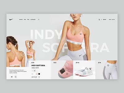 NIKE | Landing Page branding welcome page wordpress welcome webdesigner webdesign theme shop minimalist landingpage hero ecommerce app website web ux ui design