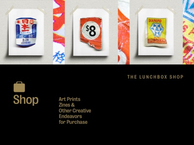 The Lunchbox Shop photoshop prints poster