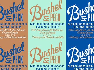 Bushel & Peck type branding agency gold lunchbox karl hebert