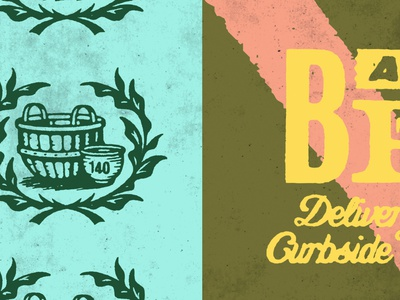 Bushel & Peck –2/5 branding lettering gold lunchbox karl hebert