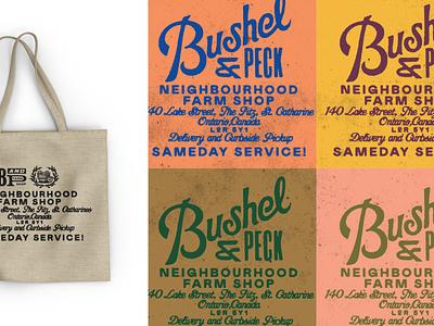 Bushel & Peck – 3/5 branding lettering gold lunchbox karl hebert