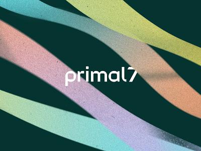 Primal7 Rebrand identity texture ribbons rebrand karl hebert goldlunchbox gold lunchbox