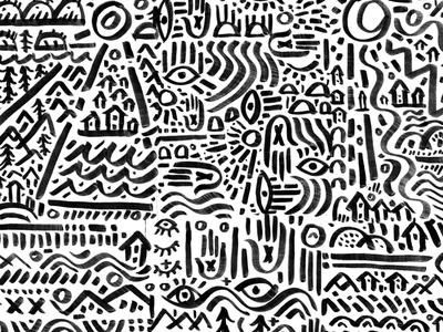 Hands, Lines, Trees & Stuffs human nature sketch karl hebert gold lunchbox