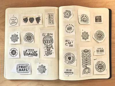 Archive Day crest seal badges bits collage karl hebert gold lunchbox
