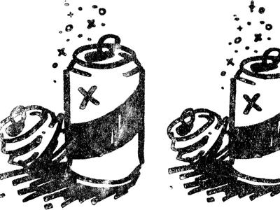 Aluminum aluminum can beer hatch gold lunchbox goldlunchbox karl hebert