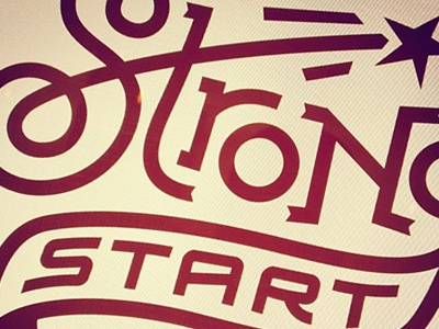 Strong Start karl hebert goldlunchbox mcgarrah jessee type logo austin texas