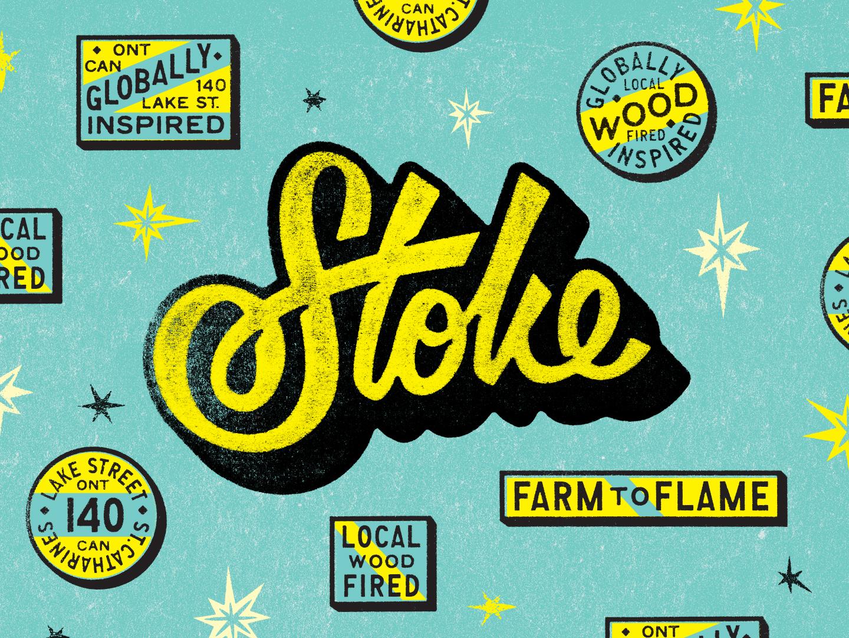 Stoke! stoke texture branding gold lunchbox karl hebert
