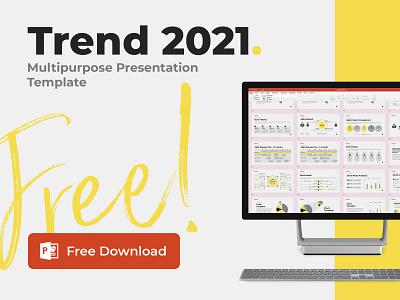 """Trend 2021"" Free PowerPoint template 2021 trend presentation design template design pantone2021 ppt design pptx ppt template ppt report hislide powerpoint freebies presentation free"