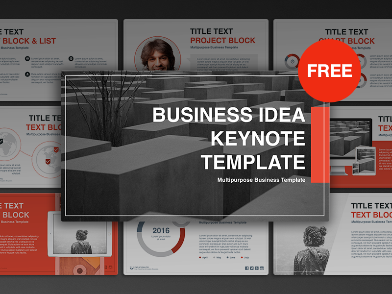 Free keynote template business idea by hislide dribbble pronofoot35fo Images