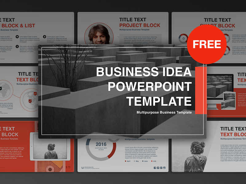 free powerpoint template: business ideahislide.io - dribbble, Modern powerpoint