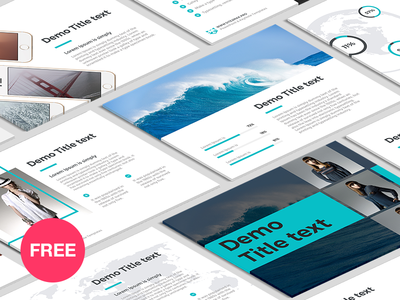Free Keynote template: Corporate Report Free Keynote by hislide.io ...