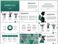 Free PowerPoint Template Business Plan By Hislideio Dribbble - Business plan powerpoint template free