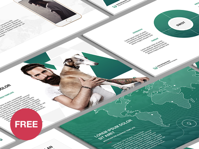 Free Powerpoint Template Business Plan By Hislide Dribbble