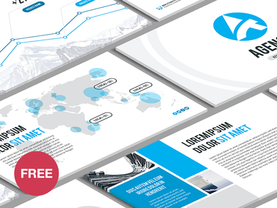 Free powerpoint template agency by hislide dribbble free powerpoint template agency toneelgroepblik Images