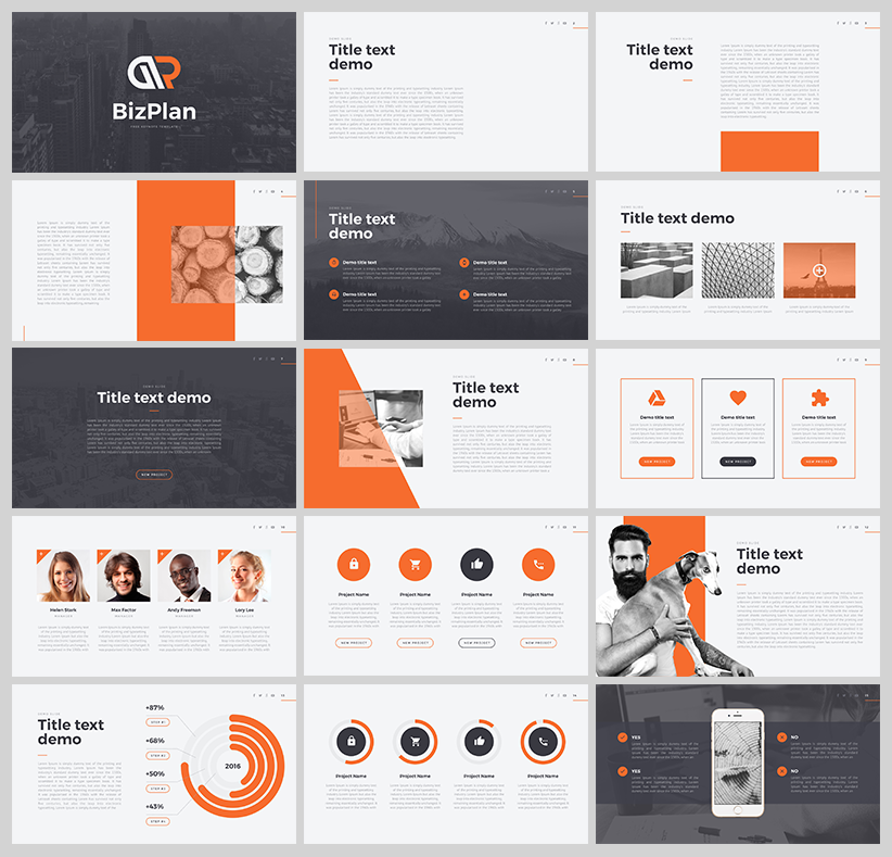 dribbble bizplan free powerpoint template download png by hislide io