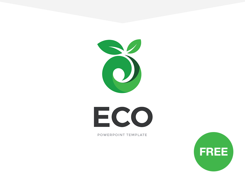 Free PowerPoint template: ECO template startup presentation modern marketing powerpoint ppt freebies free eco download business