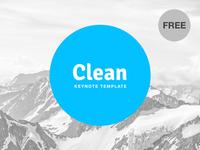 Free Keynote template: Clean