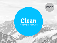 Free PowerPoint template: Clean