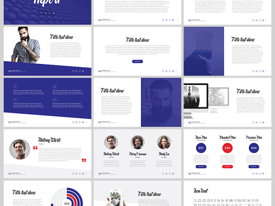 Free Keynote template: Report template startup presentation report marketing keynote key freebies free download business blue