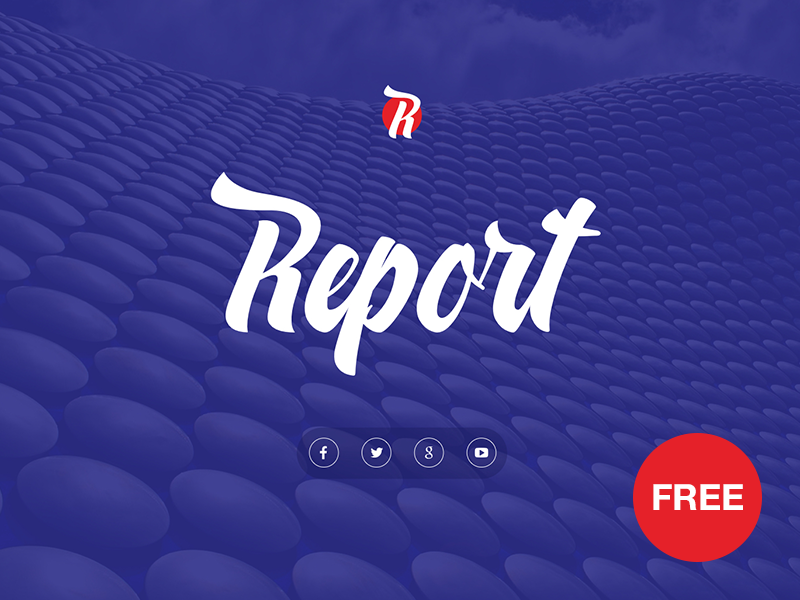 Free PowerPoint template: Report template startup report presentation marketing powerpoint ppt freebies free download business blue