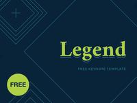 Free Keynote template: Legend