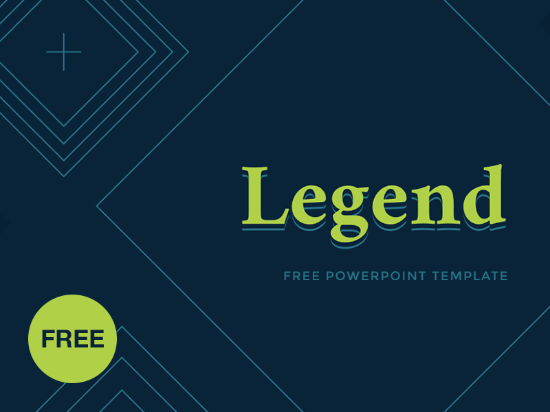 Free PowerPoint template: Legend template startup report presentation marketing legend powerpoint ppt freebies free download business