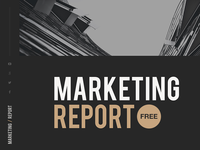 Free Keynote template: Marketing Report