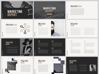 Marketing report free powerpoint template